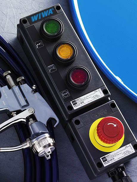 Дистанционное управление двухкомпонентной смесительно-дозирующей установки