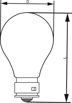 Размерные обозначения лампы накаливанияЖС 12-15 для железнодорожных светофоров.